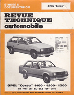 Rare Revue Technique Opel Corsa 1000-1200-1300 - Voitures