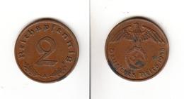Allemagne  2 Reichspfennig  1938 A  Deutsches Reich - [ 4] 1933-1945 : Third Reich