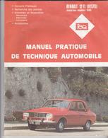 Rare Revue Technique Renault 12 TL R 1170 Avant 1980 - Cars