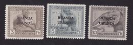 Ruanda Urundi - COB 59 60 61 Sans Traces De Charnière - Gomme En Très Bel état - 1924-44: Mint/hinged