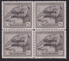 Ruanda Urundi - COB 61 En Bloc De 4 - Sans Gomme - 1924-44: Mint/hinged