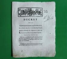 D-FR Révolution 1792 LA PRISE DES TUILERIES Evenemens Des 2 Septembre Et 10 Aout - Documents Historiques