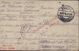 Guerre 14 Prisonnier Guerre Soltau Censure Gepruft Soltau Mairie Lille Service Gratuit Distribution 6e Armée Carte Photo - Postmark Collection (Covers)