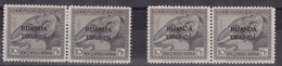 Ruanda Urundi - 2 X COB 61 En Paire - L'une Avec Trace De Charnière, L'autre Sans Gomme - 1924-44: Mint/hinged