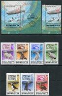 "Y85 MONGOLIA 1981 1413-1420 + BL.76 50th Anniversary Of The Polar Flight ""Graf Zeppelin"". Aviation. Fauna. Birds - Polar Flights"