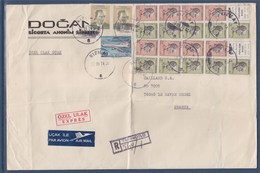 Enveloppe Recommandé Kizilay (Turquie) à Le Havre (France) 21 Timbres Le 19.III.74 - [7] Federal Republic