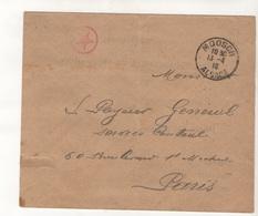Sar04012 ENVELOPPE AVEC CACHET MOOSCH ALSACE 1918 Tampon Rouge étoile - Alsace-Lorraine