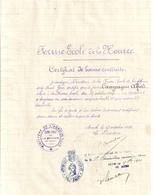FERME-ECOLE DE LA HOURRE -CERTIFICAT DE BONNE CONDUITE- 1911-AUCH- - Diplomi E Pagelle