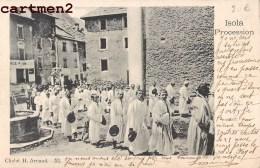 ISOLA PROCESSION RELIGIEUSE CLICHE H. ARNAUD FETE RELIGION MESSE 1900 - Francia