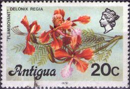 ANTIGUA 1978 - FIORI - 1 VALORE USATO - Antigua E Barbuda (1981-...)