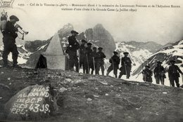 Col De La Vanoise (2486 M) - Monument Lieutenant PORCHER Adjudant ROZIER... - Animée : Chasseurs Alpins, Clairon... - Regimenten