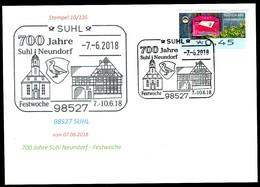 84396) BRD - SoST-Karte 10/135 - 98527 SUHL Vom 07.06.2018 - 700 Jahre Suhl Neundorf, Kirche - [7] West-Duitsland