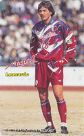 Télécarte Japon / 110-167061 - FOOTBALL BRESIL - LEONARDO - SOCCER BRASIL Brazil Sport Japan Phonecard - FUSSBALL 1100 - Sport