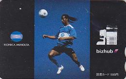 Carte Prépayée Japon - FOOTBALL BRESIL - RONALDINO - SOCCER BRASIL Brazil Sport Japan Prepaid Tosho Card 1104 - Sport