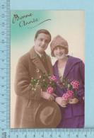 Bonne Année - Homme Et Femme D'époque  - Postcard, Post Card, Carte Postale - Femmes