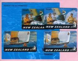 New Zealand - 1995 Americas Cup Set (2) - NZ-E-20/21 - Mint In Folder - New Zealand
