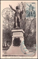 0055/ Carte Maximum (card) France N°314 Rouget De Lisle Statue De Lons Le Saunier 27/6/1936 Fdc Premier Jour - ....-1949