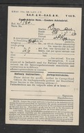 S.Africa Railways & Harbours, Goods Advice Note - DUNDEE 25 MAR 30 > Pomeroy, - South Africa (...-1961)