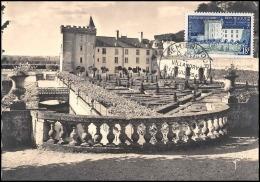0844/ Carte Maximum (card) France N°995 Château (castle) De Villandry (Touraine) 1954 Fdc Premier Jour - 1950-59
