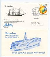 Great Britain 1987 H.M.S. Warrior Royal Navy Commemorative Cover - 1952-.... (Elizabeth II)