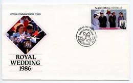 Nanumea - Tuvalu 1986 Scott 68 FDC Royal Wedding - Tuvalu