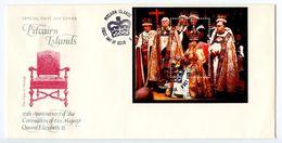 Pitcairn Island 1978 Scott 177 S/S FDC Elizabeth II Coronation 25th Anniversary - Timbres