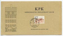 Denmark 1976 Københavns Philatelist Klub HAFNIA Exhibition Card - Denemarken
