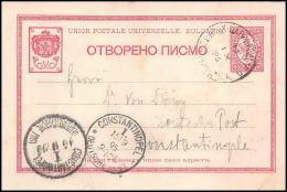 2375/ Bulgarie (Bulgaria) Entier Stationery Carte Postale (postcard) Pour Constantinople Turquie (Turkey) 1895 - Entiers Postaux