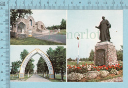 Rogersville N.B.  -multi-vue, Grotte N.D. Lourdes, Arche, Statue Mrg. Richard - Postcard, Post Card, Carte Postale - Nouveau-Brunswick