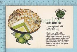 Recette   -Key Lime Pie, Gran'ma Golds' Original, Florida   -  Post Card, Carte Postale - Recettes (cuisine)