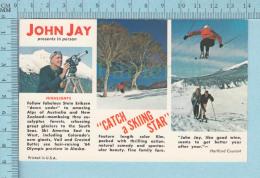 John Jay - Publicité Présentation Université De Montréal , Ski Zone  -  Post Card, Carte Postale - Sports D'hiver