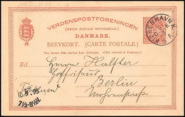 3161/ Danemark (Denmark) Entier Stationery Carte Postale (postcard) N°18 1895 - Entiers Postaux