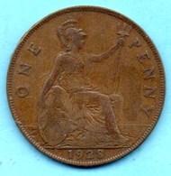 (r65) GRANDE BRETAGNE  1 PENNY 1928  GEORGES V - 1902-1971 : Monete Post-Vittoriane