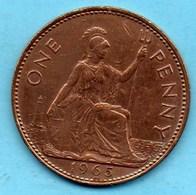 (r65) GRANDE BRETAGNE  1 PENNY 1965  ELIZABETH II - 1902-1971 : Monete Post-Vittoriane
