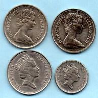 (r65) GRANDE BRETAGNE  4 X 5 Pence Dif Effigy  ELIZABETH II - 1971-… : Monnaies Décimales