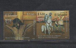 El Salvador MNH Issue Pair America Upaep 2007 Quijote Horse - El Salvador