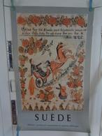 AFFICHE : SUEDE : Le Prophète Elie Enlevé Au Ciel ,panneau Décoratif ,art Paysan De La Province De Darla   , H 99,8 L 62 - Affiches
