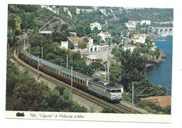 "06/ ALPES MARITIMES...Train. BB 22200 En Tête Du TEE "" Ligure Milan Avignon à THEOULE Sur MER - Francia"