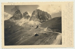 AK  Passo Sella Mit Langkofel Hütte 1932 - Italie