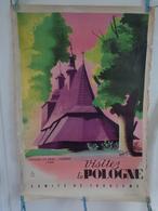 AFFICHE : Visitez La POLOGNE : L'église En Bois à SEKOWA 1540    , H 100 L68,5 - Affiches