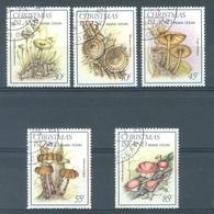 CHRISTMAS - USED/OBLIT.  - 1984 - MUSHROOMS -  Yv 189-193 - Lot 17363 - Christmas Island