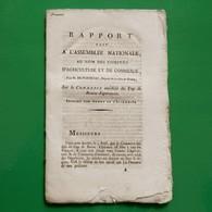 D-FR Révolution 1790 COMPAGNIE DES INDES Rapport Sur Le Commerce Au-delà Du Cap De Bonne-Espérance - Documents Historiques