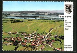 AK Berndorf B. Salzburg, Ortsansicht Mit Blick Auf Die Trumer Seen, Fliegeraufnahme - Non Classés
