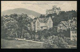 Baden Baden Seufzerallee Mit Ludwig Wilhelm Pflegehaus Und Sanatorium Doctor Ebers Metz - Baden-Baden