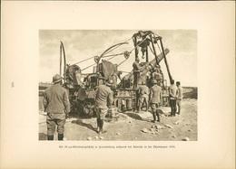 Kupfertiefdruck : 24cm-Geschütz Bei Bouvancourt (Marne, Oktober 1916) - 1. Weltkrieg - Entente - Stiche & Gravuren