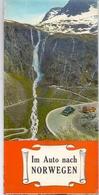 Brochure Dépliant Faltblatt Toerisme Tourisme - Kaart Noorwegen -  Carte Norvège  - Im Auto Nach Norwegen 1965 - Cartes Routières