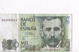 Billet : ESPAGNE . MIL 1000 PESETAS  23/10/79  N C1458884C - [ 4] 1975-… : Juan Carlos I