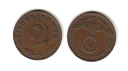 Allemagne  2 Reichspfennig  1938 J  Deutsches Reich - 2 Reichspfennig