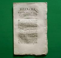 D-FR Révolution 1789 Opinion De M. L'Abbé SIEYES Sur L'arrêté Du 4, Relatif Aux Dîmes - Documents Historiques