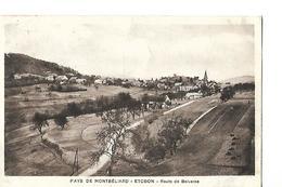 Carte / 70 Haute SAONE / ETOBON / Route De BELVERNE / 1936 - Andere Gemeenten